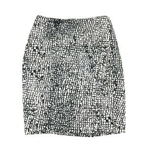 Ann Taylor Lined Geometric Print Pencil Skirt Sz 4